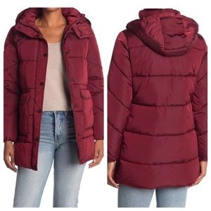 NWT Lucky Brand Hooded Puffer Jacket Coat Large L
